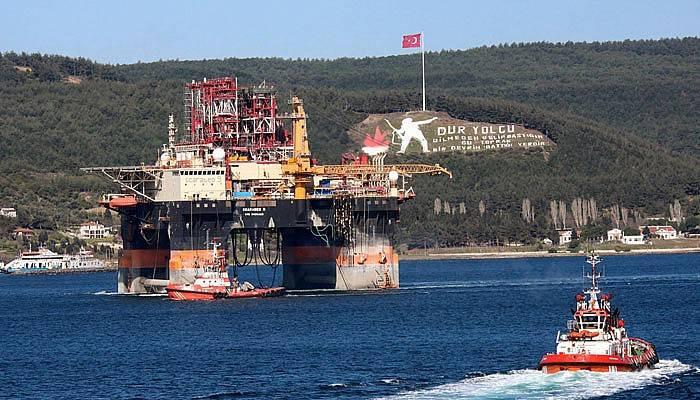 Petrol arama platformu Çanakkale Boğazı'nda (VİDEO)
