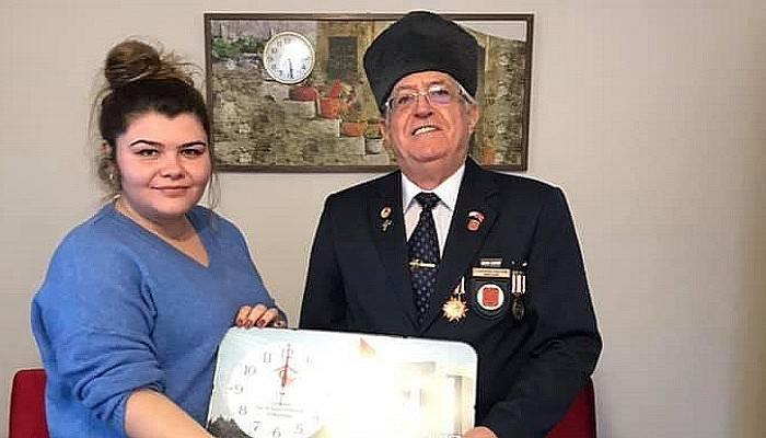 Kıbrıs gazisi Ahmet Tükel'e anlamlı ziyaret