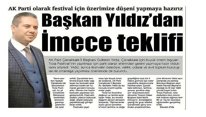 AK Parti olarak festival için üzerimize düşeni yapmaya hazırız