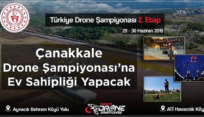 Türkiye Drone Şampiyonası Ayvacık'ta yapılacak