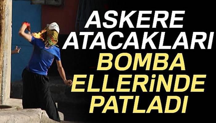 Teröristlerin bombaları ellerinde patlamış