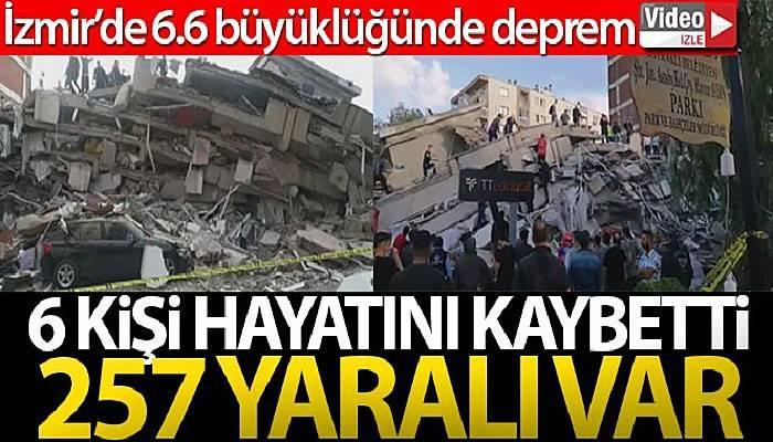 İzmir'de 6.6 büyüklüğünde deprem! (VİDEO)
