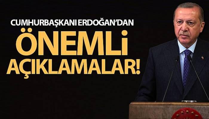 Cumhurbaşkanı Erdoğan'dan Kabine Toplantısı ardından önemli açıklamalar!