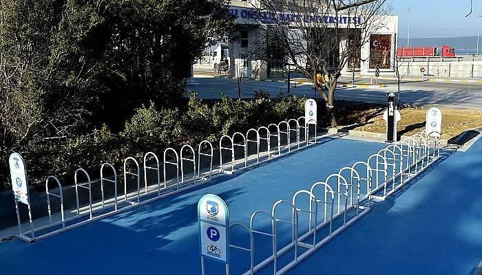 Terzioğlu Yerleşkesinde Yeni Bisiklet Park Alanı