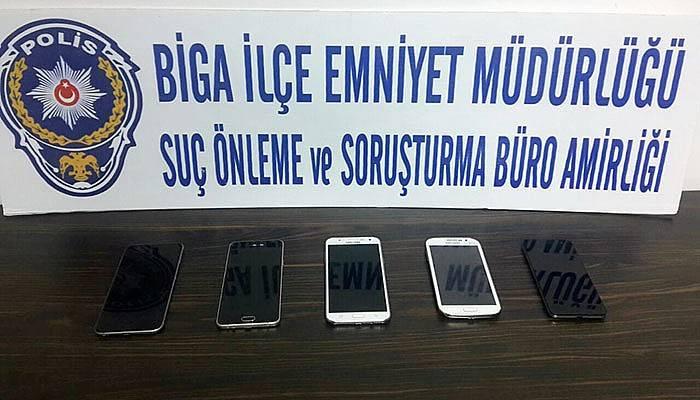 Çanakkale'de telefon hırsızı yakalandı