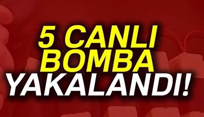 Hatay'da 5 canlı bomba yakalandı