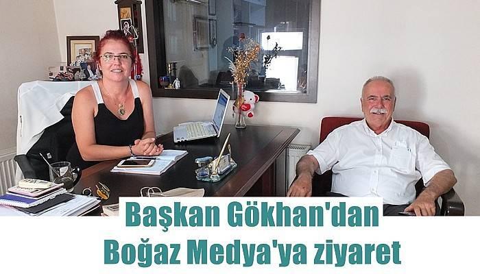 Başkan Gökhan'dan Boğaz Medya'ya ziyaret
