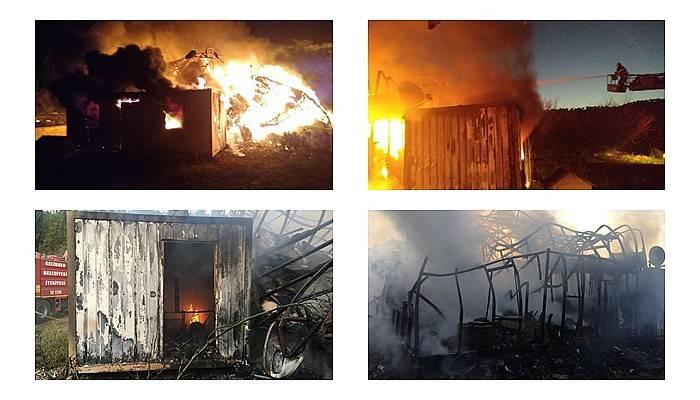 Çiftlik evindeki yangın, ormana sıçramadan söndürüldü