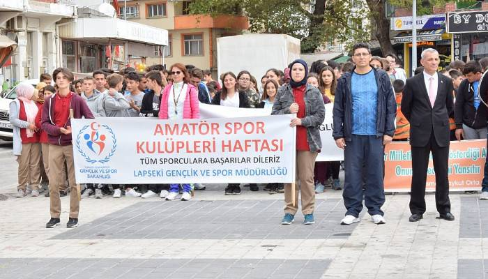 Lapseki'de 'Amatör Spor Kulüpleri Haftası' faaliyetleri