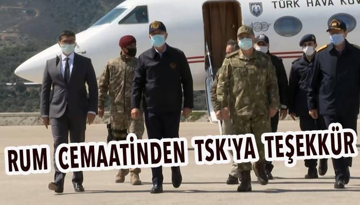Bakan Akar'dan, Gökçeada'daki komando birliğine ziyaret (VİDEO)