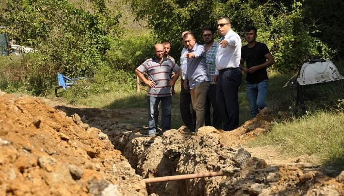 Kaymakam Şahin köylerdeki çalışmaları inceledi