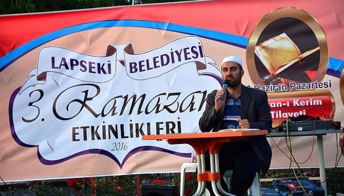 LAPSEKİ'DE RAMAZAN COŞKUSU