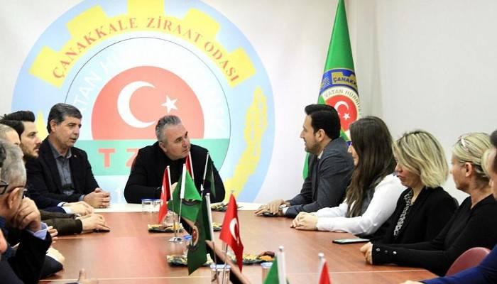 AK Parti İl Yönetiminden Ziraat Odasına Ziyaret