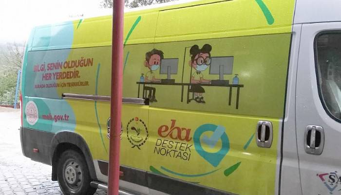 EBA Mobil Destek Aracı Köydeki Öğrenciler İçin Yolda