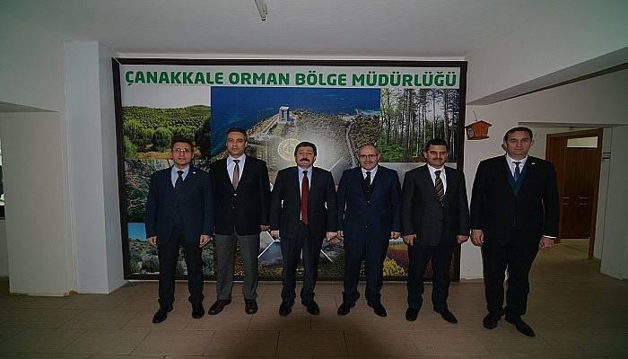 Vali Orhan Tavlı Orman Bölge Müdürlüğünü Ziyaret Etti