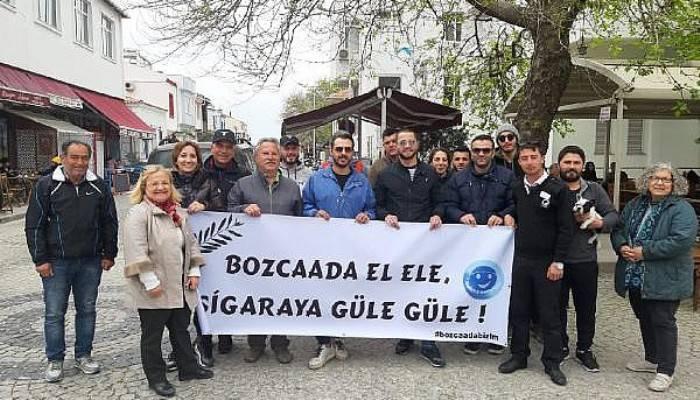 Bozcaadalılar, 23 Nisan'da sigarayı bıraktı