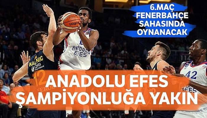 Anadolu Efes şampiyonluğa yakın