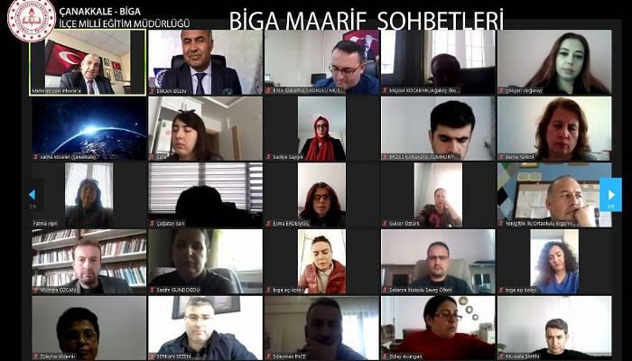 BİGA'DA MAARİF SOHBETLERİ UZAKTAN EĞİTİM KONFERANSLARI DEVAM EDİYOR