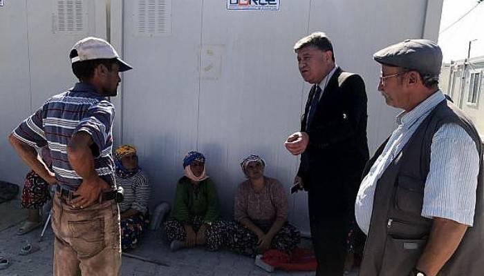 Ayvacık'taki depremzedelerin evleri yapılmaya başlandı(VİDEO)