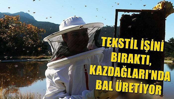 Kadın girişimciİstanbul'daki tekstil işini bıraktı, Kaz Dağları'nda bal üretiyor (VİDEO)
