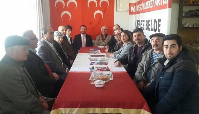 AK Parti Kepez'den CHP ve MHP Belde Başkanlıklarına Ziyaret
