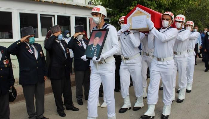 Çanlı Kıbrıs gazisi dualarla son yolculuğuna uğurlandı (VİDEO)