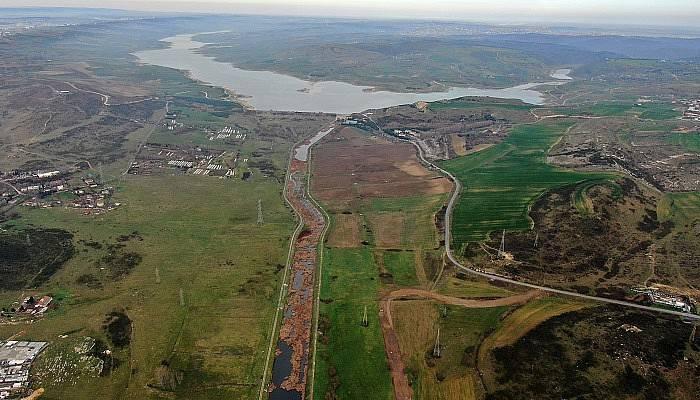 Kanal İstanbul güzergahı havadan görüntülendi (VİDEO)