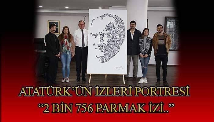Atatürk'ün İzleri portresi için 2 bin 756 kişilik emek
