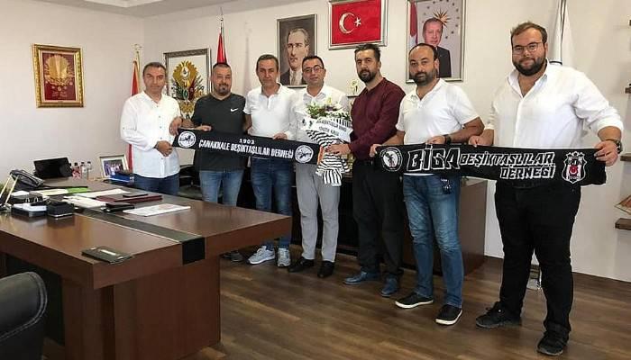 Beşiktaşlılardan Başkan Erdoğan'a ziyaret