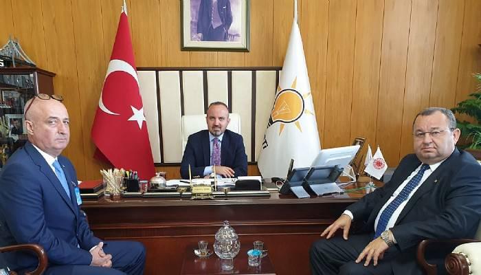 Biga TSO'dan Bülent Turan'a ziyaret