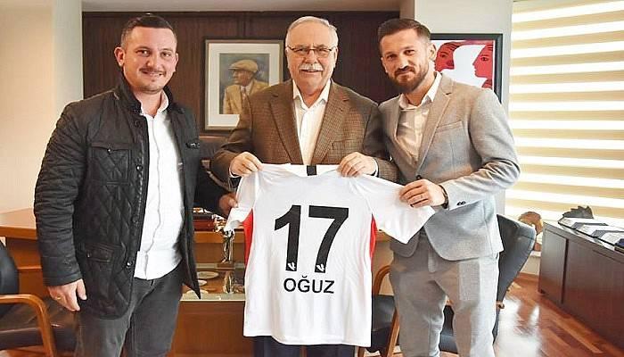 Gaziantepli Futbolcu Oğuz Ceylan'dan Başkan Gökhan'a Ziyaret