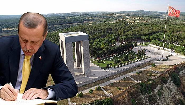 """Cumhurbaşkanı Erdoğan'dan Gelibolu Yarımadası İçin """"Kesin Korunacak Hassas Alan"""" Kararı"""