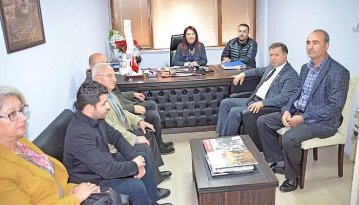 CHP heyetinden Gazeteciler Cemiyetine ziyaret