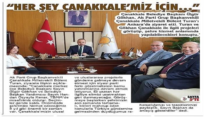 Ülgür Gökhan'dan Bülent Turan'a ziyaret