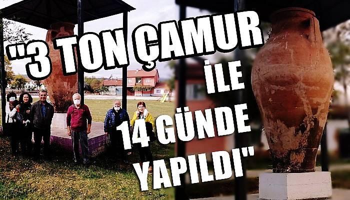 Türkiye'de topraktan tek parça olarak yapılmış en büyük çömlek küpüne büyük ilgi