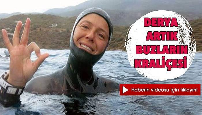 Buz altında dünya rekoru kırdı (VİDEO)