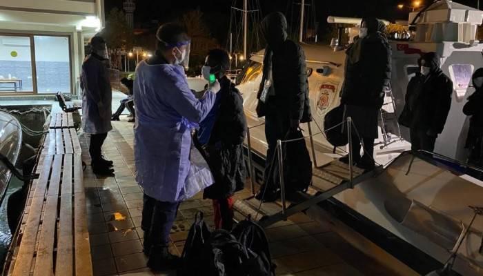 Ayvacık açıklarında, 101 kaçak göçmen kurtarıldı