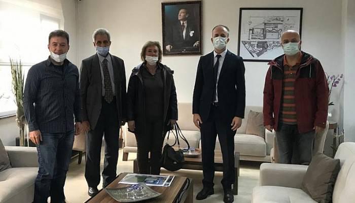 Troia Spor Yöneticilerinden Gençlik ve Spor İl Müdürü Kalkan'a 'Hoşgeldin' ziyareti