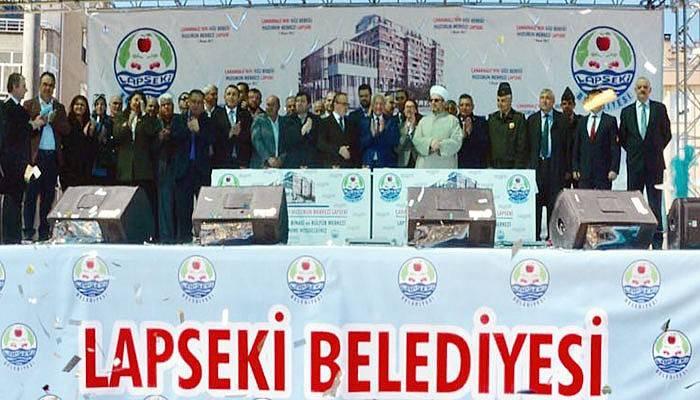 Lapseki Belediyesi Hizmet Binası ve Kültür Merkezi Temeli Atıldı (VİDEO)