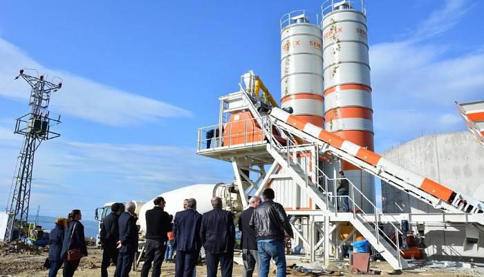 Lapseki Belediyesi ikinci beton santralini kuruyor