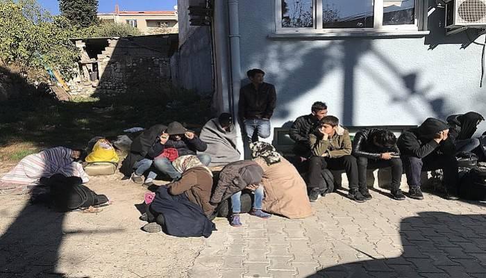 Minibüsten 46 kaçak göçmen çıktı (VİDEO)