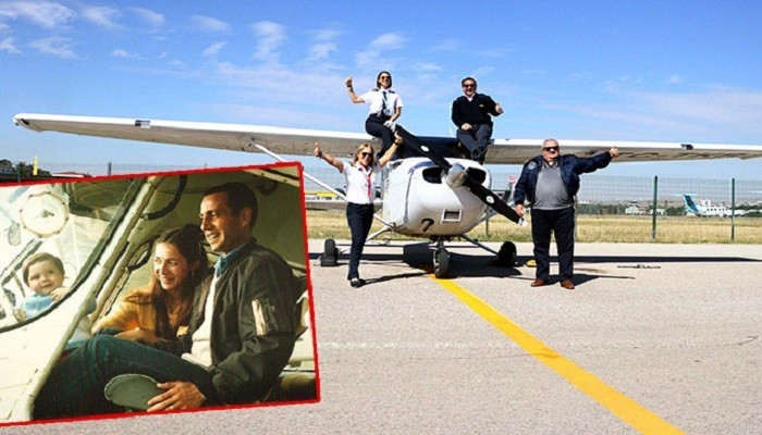 Göklere aşık pilot aile (VİDEO)