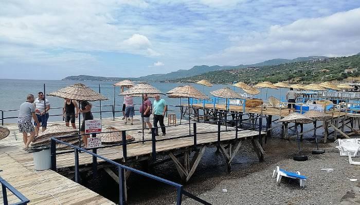 AYVACIK'I ŞİDDETLİ FIRTINA VURDU!