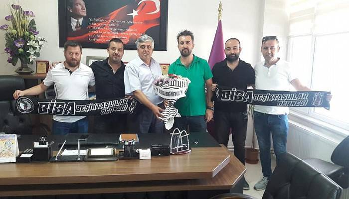 Biga Beşiktaşlılar Derneği Başkan Mutur'u Ziyaret Etti