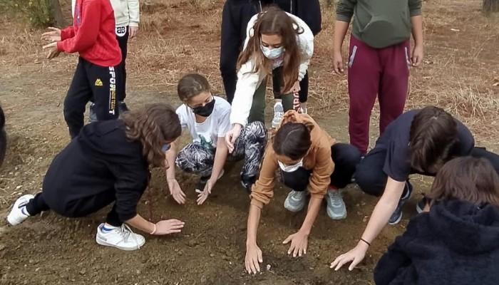 Çevre Dersinde Öğrenciler Atalık Tohumları Toprağa Dikti