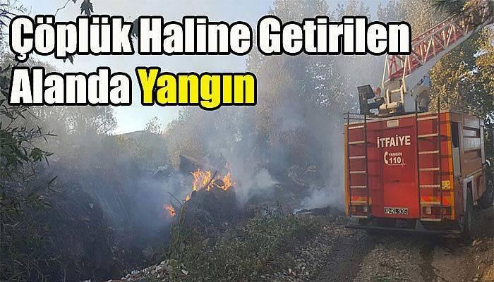 Çöplük Haline Getirilen Alanda Yangın