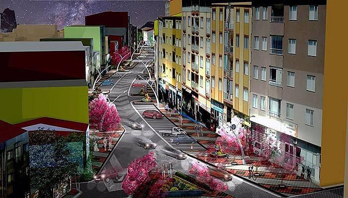 Hamdibey Mahallesi'nde modern yol projesi başladı