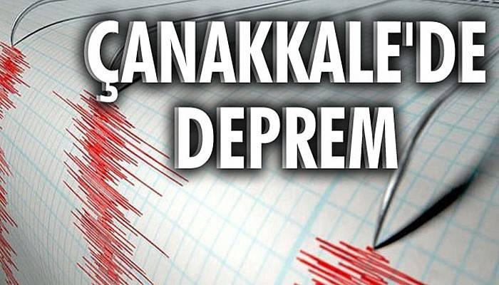 Çanakkale'de 3,6 büyüklüğünde deprem!!!