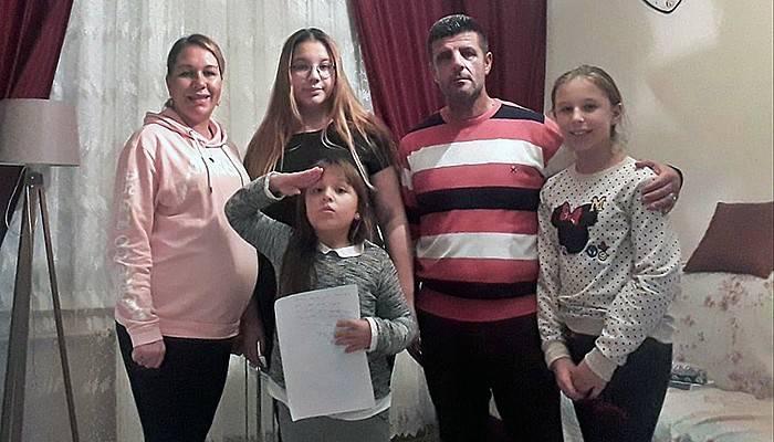 8 yaşındaki Aybilge, askere gitmek için dilekçe verdi