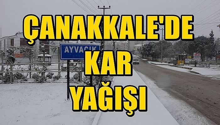 Çanakkale'de kar yağışı (VİDEO)